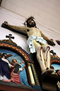 The crucifix at Sacred Heart Church in Denver where Julia Greeley spent time in prayer.